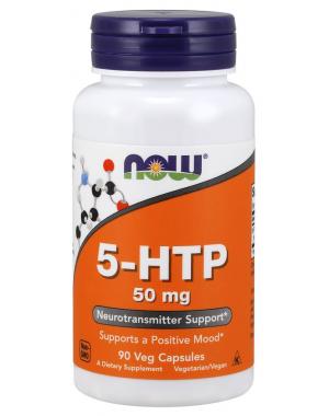 5 HTP 50 mg 90 Veg Capsules NOW Foods