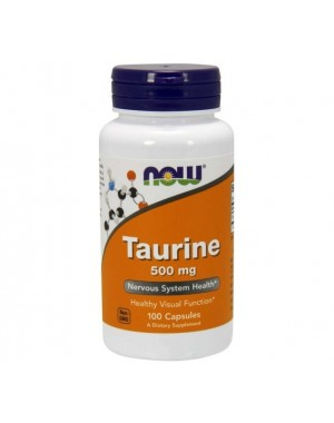 Taurine taurina 500mg 100 capsules NOW Foods