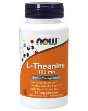 L Theanine 100 mg 90 Veg Caps NOW Foods