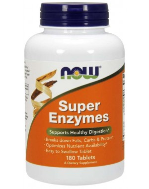 Super Enzymes 180 Tablets NOW Foods