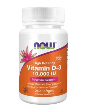 Vitamina  D3 10,000 IU  240 Softgels Now