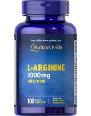 L arginine Arginina 1000mg 100caps PURITANS Pride