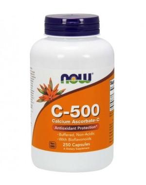 Vitamina C 500 Calcium Ascorbate 250 Capsules NOW Foods