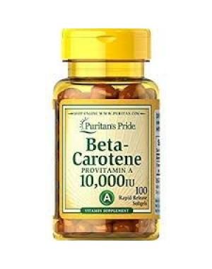 Beta Carotene 10000 IU 100 softgels PURITANS Pride