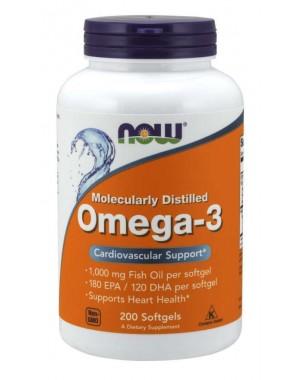 Omega 3 1000mg 200 Softgels NOW Foods