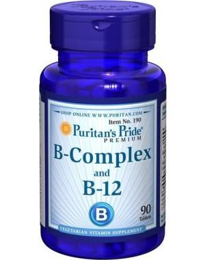 Vitamina B Complex and Vitamin B 12  90 tablets PURITANS Pride