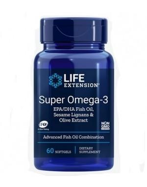Super Omega 3 EPA / DHA com Sesame Lignans & Olive Extract 60 caps LIFE Extension