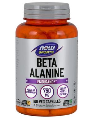 Beta-Alanine  750 mg 120 Capsules NOW Foods