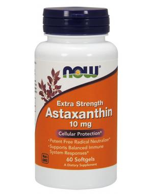 Astaxanthin Astaxantina 10mg 60 Softgels NOW Foods