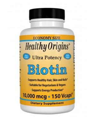 Biotin 10000mcg 150vcaps Healthy Origins