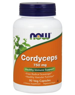 Cordyceps 750 mg 90 Veg Capsules NOW Foods