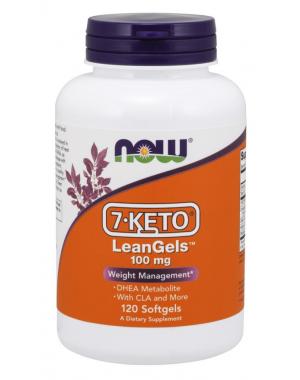 7 KETO LeanGels com CLA 100 mg 120 Softgels NOW Foods