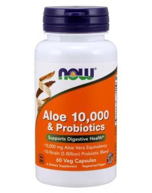 Aloe Vera & Probiotics 10,000mg  60 softgels NOW Foods