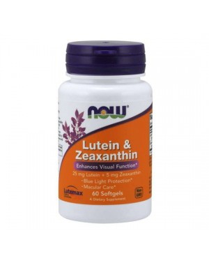 Lutein e Zeaxanthin 60 softgels NOW Foods