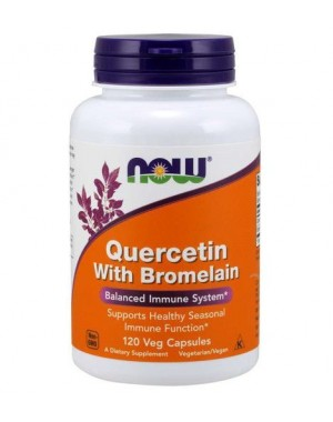 Quercetin with Bromelain quercetina com bromelina 120 Veg Capsules NOW Foods