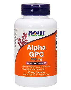 Alpha GPC 300 mg 60 Veg Capsules NOW Foods