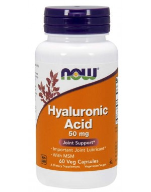Acido hialuronico com MSM Hyaluronic Acid with MSM 60 Veg Capsules NOW Foods