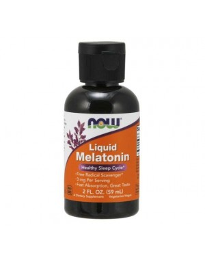 Melatonina liquida 59ml NOW Foods