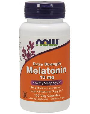 Melatonina 10mg 100 veg caps NOW Foods