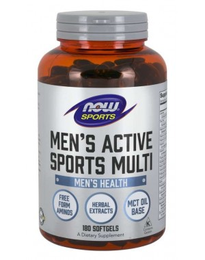 Men s Active Sports Multivitaminico 180 Softgels NOW Foods