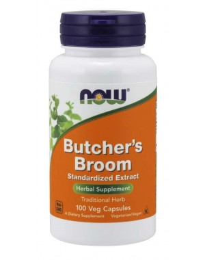 Butcher s Broom 100 Veg Capsules NOW Foods