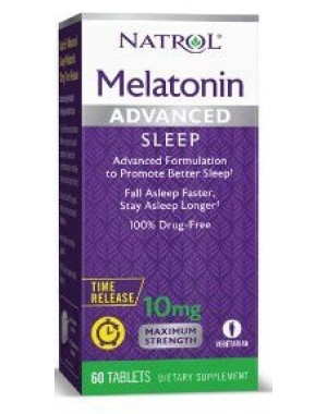 Melatonina Advanced 10mg TIME RELEASE 60 tablets NATROL (caixa)
