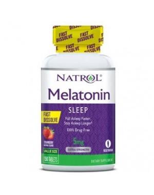 Melatonina 5mg FAST DISSOLVE sublingual 150 tablets Sabor Strawberry NATROL