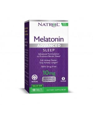 Melatonina Advanced 10mg TIME RELEASE 100 tablets NATROL (caixa)