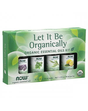 kit de Óleos Essenciais  Let It Be Organically Organic 40ml NOW Foods