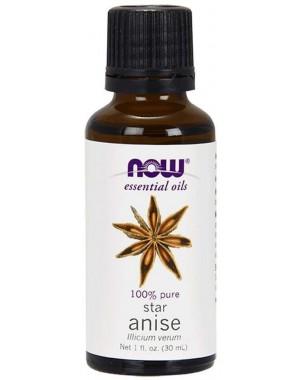 Óleo essencial de Anise Anis estrela 1oz 30ml NOW Foods
