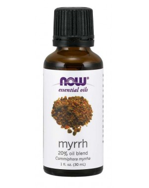 Óleo essencial blend Myrrh mirra 20% 1oz 30ml NOW Foods
