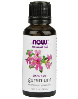 Óleo essencial de Geranium gerânio  1oz 30ml NOW Foods