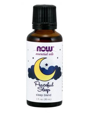 Óleo essencial blend de Peaceful Sleep 1oz 30ml NOW Foods