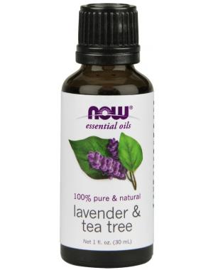 Óleo essencial blend Lavender e Tea Tree 1oz 30ml NOW Foods
