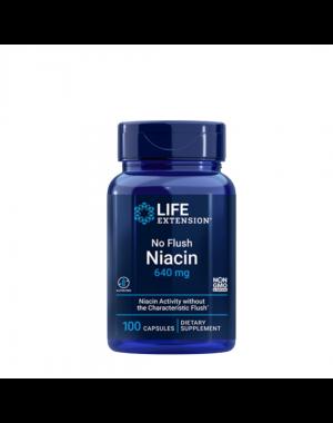 No Flush Niacina Inositol Hexanicotinate 640 mg 100 capsules LIFE Extension