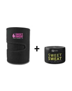 Cinta Neoprene para Perna Rosa + Sweet Sweat 184g