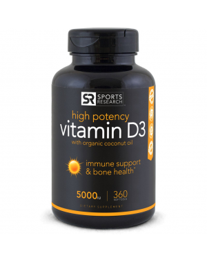 Vitamina D3 5000 IU 360 Softgels SPORTS Research