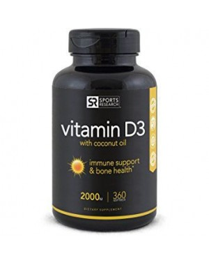 Vitamina D3 2000 IU 360 Softgels SPORTS Research