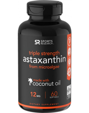 Astaxanthin  12mg, 60 Softgel SPORTS Research