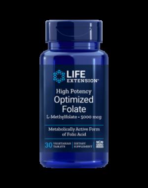 High Potency Optimized Folate 8500 mcg 30 vegetarian tablets