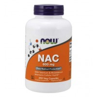 NAC 600 mg 250 Veg Capsules NOW Foods