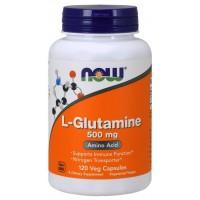 L Glutamine glutamina 500 mg 120 Capsules NOW Foods