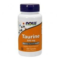 Taurine taurina 500mg 100 capsules NOW Foods