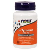 L Tyrosine tirosina 500 mg 60 Capsules NOW Foods