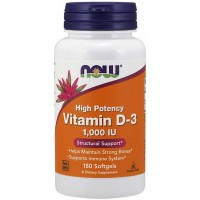 Vitamina D3 1000 IU 180 Softgels NOW Foods