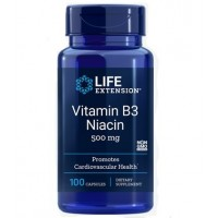 Vitamin B3 vitamina b3 Niacin 500mg 100 capsules LIFE Extension