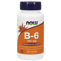 Vitamina B6 100 mg 250 Capsules NOW Foods