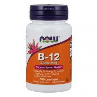 Vitamina B12 2000mcg 100 lozenges NOW Foods