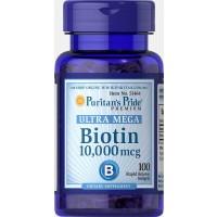 Biotin 10000 mcg 100 softgels PURITANS Pride