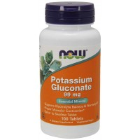 Potassium Gluconate 99 mg 100 Tablets NOW Foods